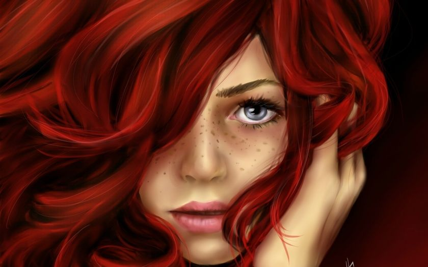 Girl With Red Hair And Grey Eyes Google Search Girls With Red