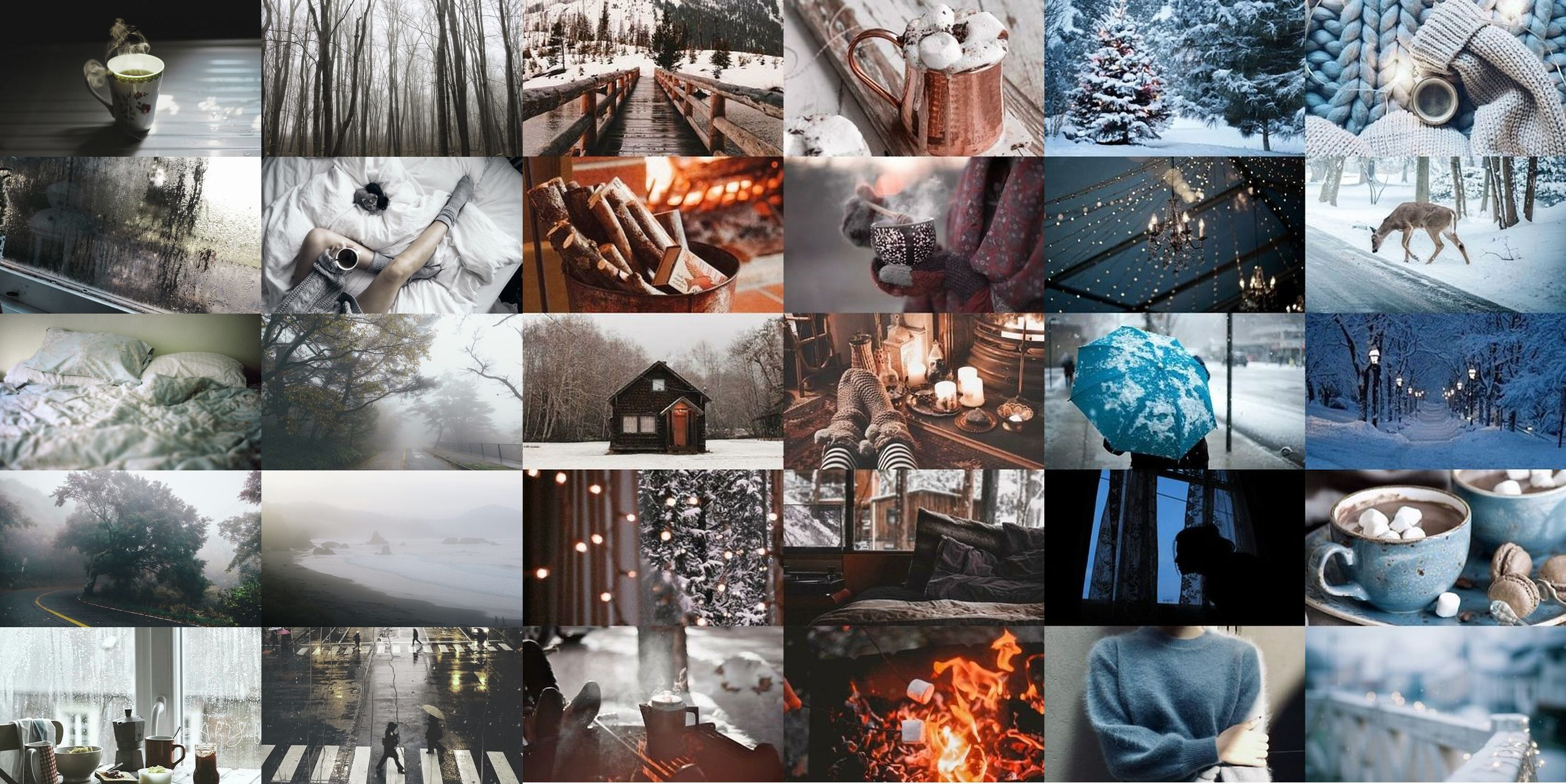 Winter Cozy Aesthetic Collage Winter Desktop Background Desktop Wallpaper Winter Wallpaper