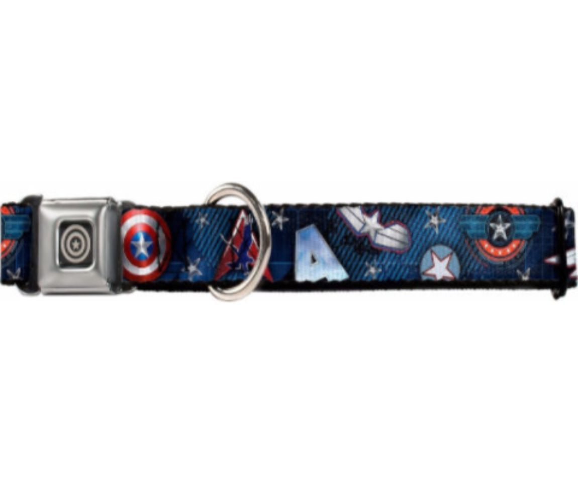 Captain America Symbols Dog Collars