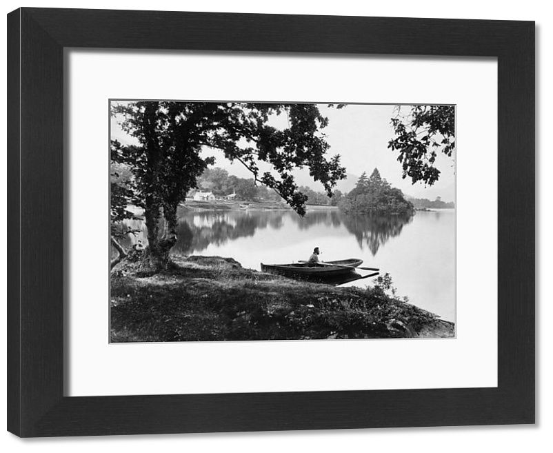 Framed Print-Loch Lomond/Late 19C-14x12 inch Frame and mount made in the UK