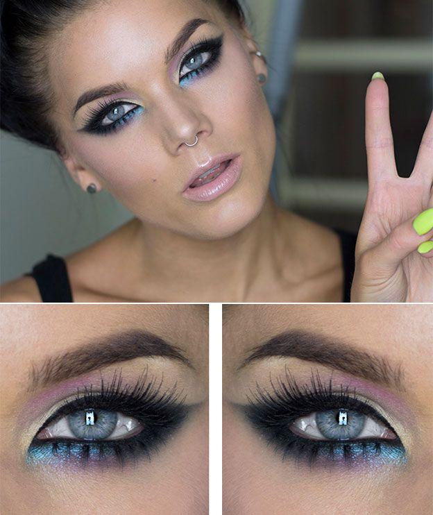 Макияж для серо-голубых глаз фото | Макияж для глаз, Идеи ...