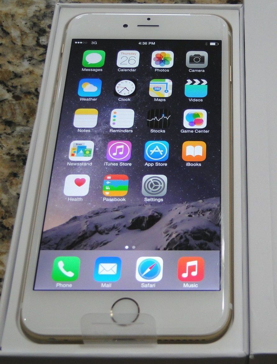 official photos 479e7 a8f4b New Apple iPhone 6 Plus 64GB Silver Verizon Unlocked WARRANTY 9/17 ...