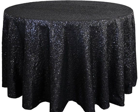 Black Sequin Tablecloth Sequence Table By Fantasyfabricdesigns