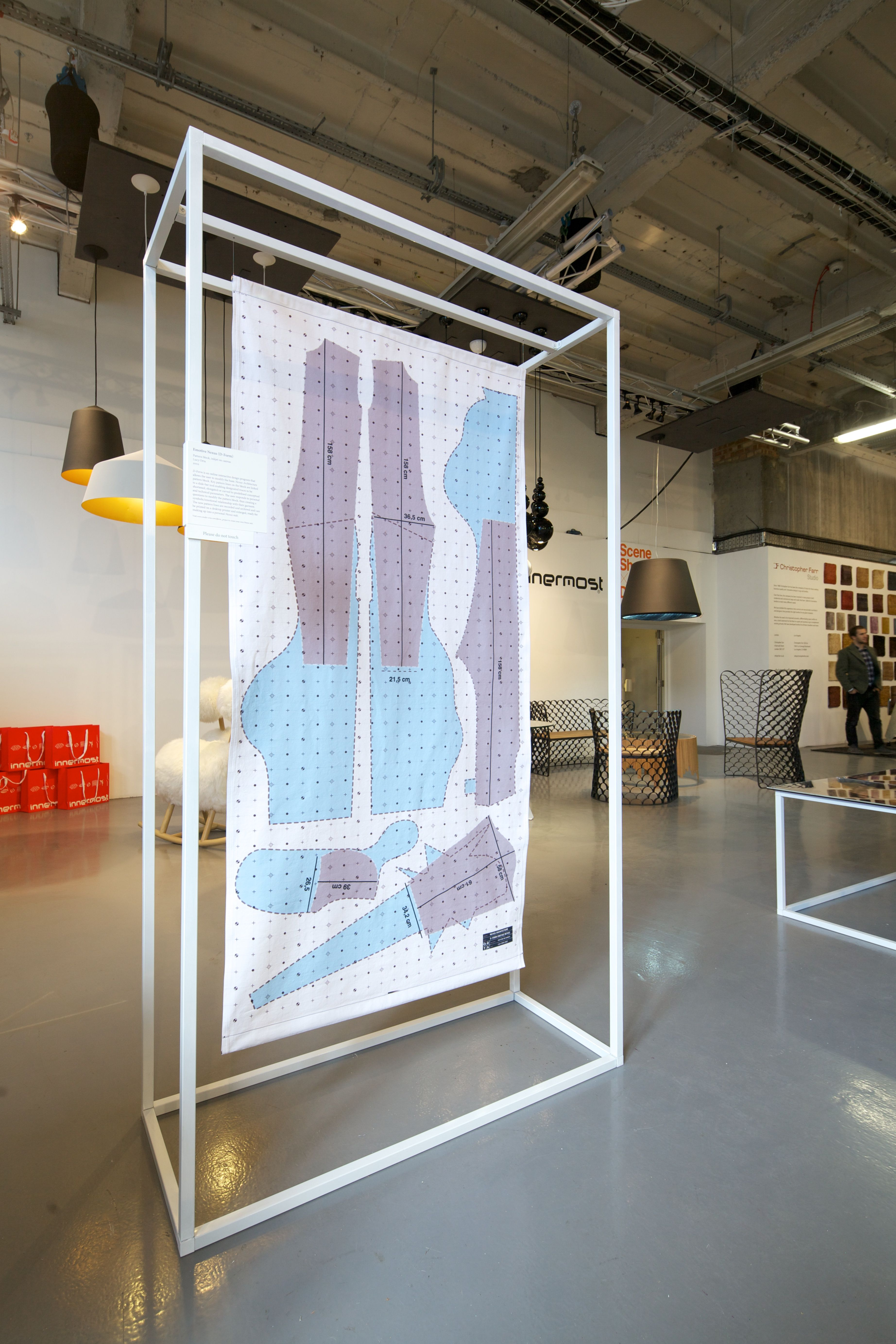 Exhibition Booth London : Lucy orta block party exhibition launch london design