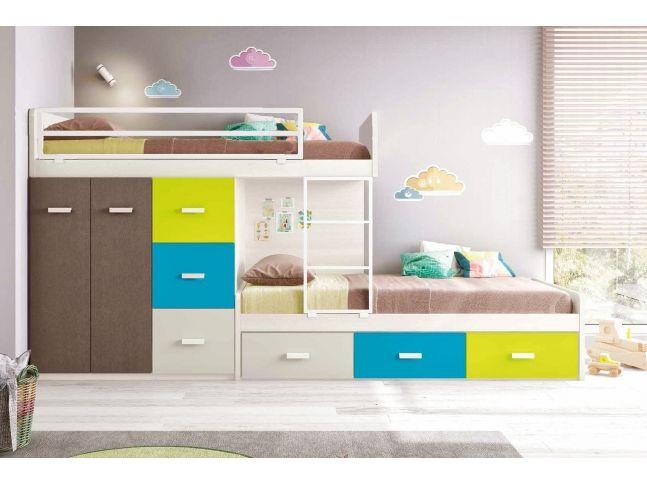 lit superpos enfant composition l200 glicerio chambre enfants lit superpos lit. Black Bedroom Furniture Sets. Home Design Ideas
