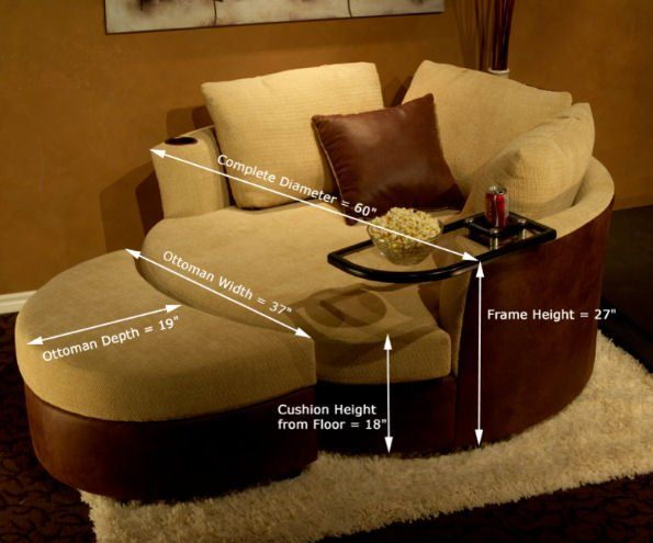 Etonnant Cuddle Couch :: Home Theater Seating :: By: FANCY