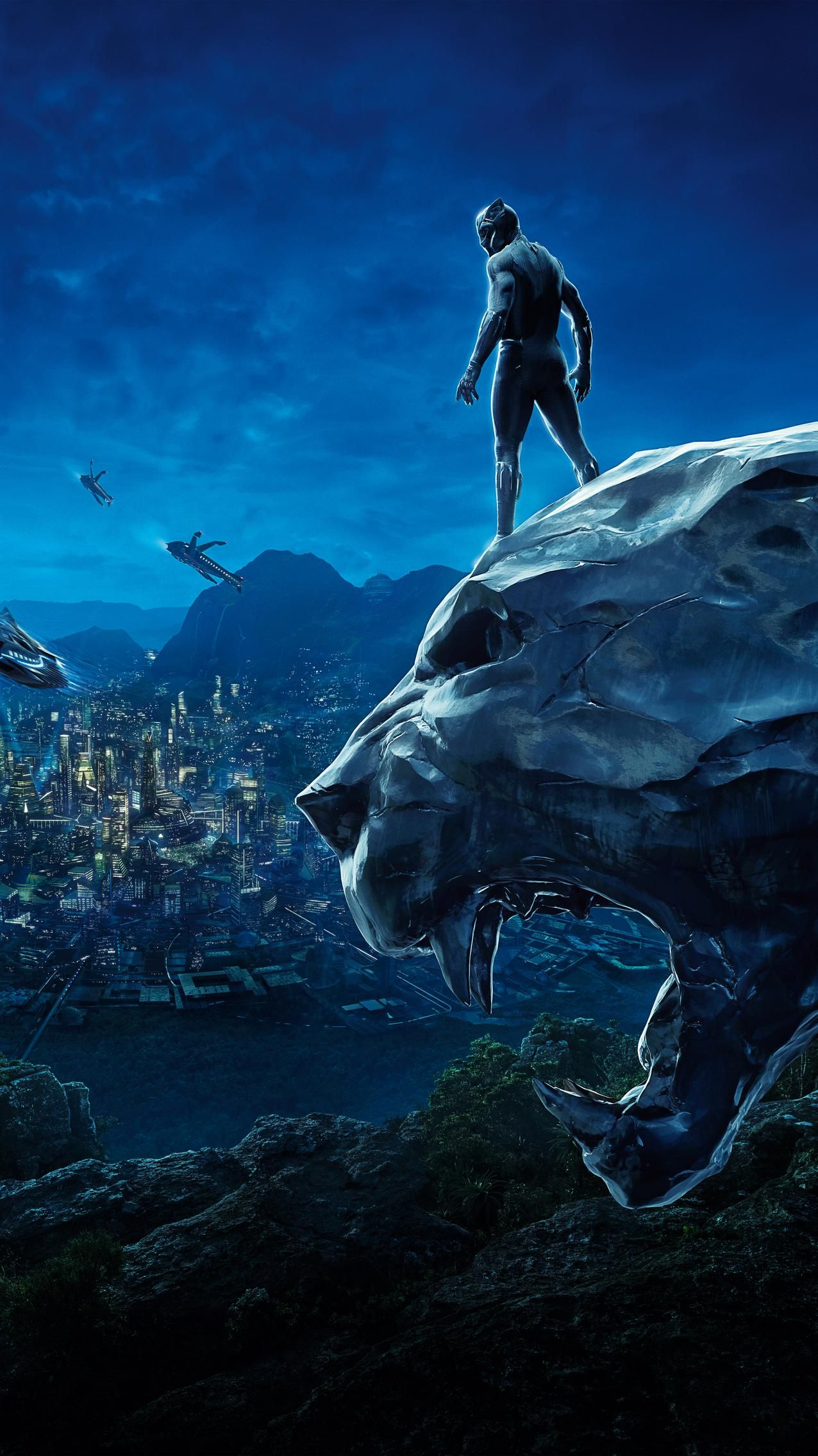 Black Panther (2018) Phone Wallpaper   Moviemania