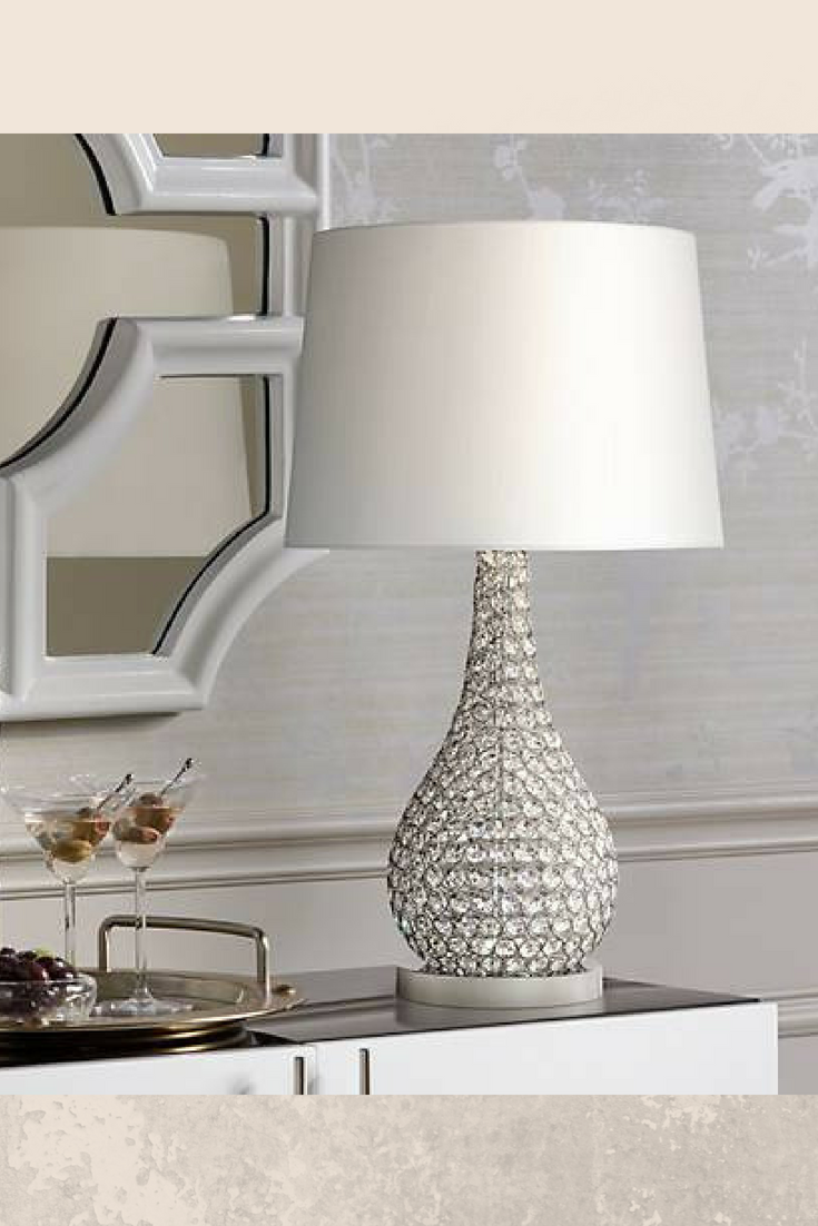 Illuminate Any Space Stylishly With This Crystal Beaded Table Lamp