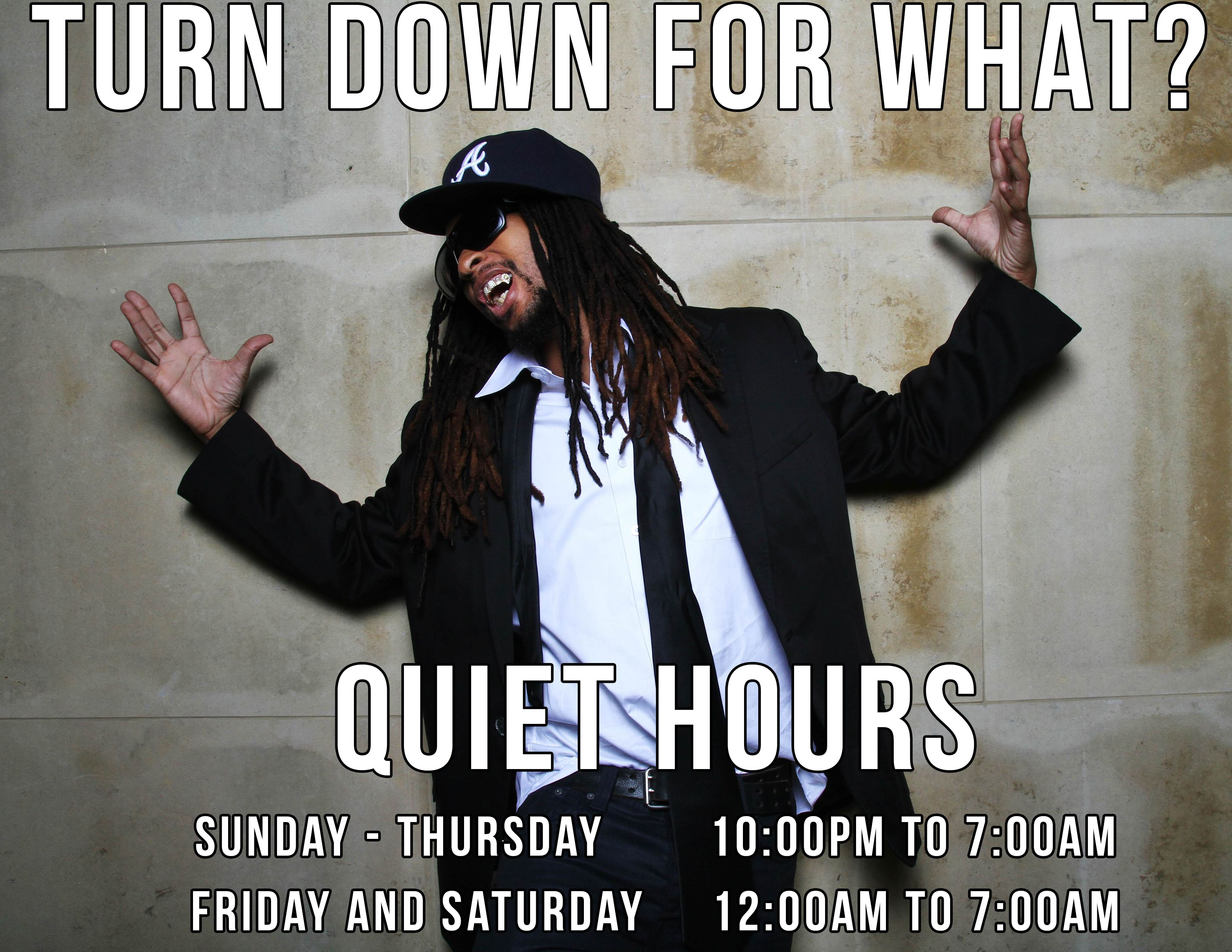 quiet hours signs! hahah @anneradcliff | RA Ideas :) | Res life