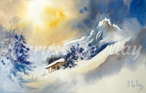 Maryse de may le froid de may maryse - Paysage enneige dessin ...