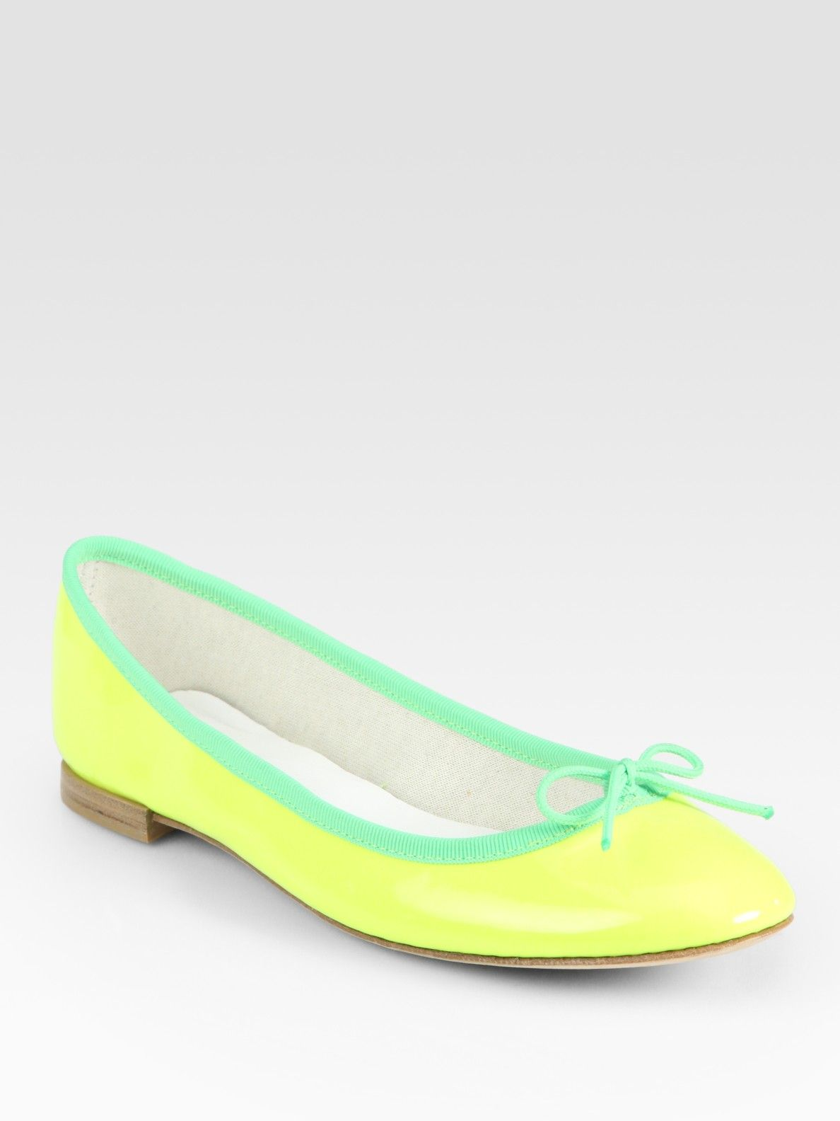 cd68fb420c03 Repetto Neon Patent Leather Ballet Flats in Yellow (neonyellow)