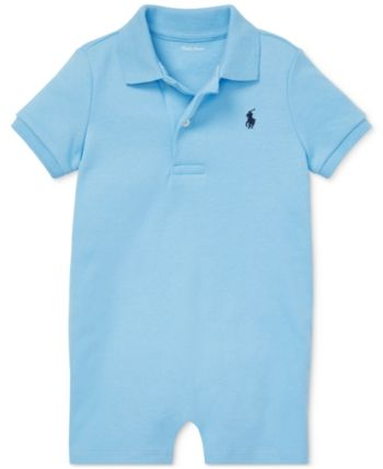 Ralph Lauren Baby Boy Cotton Interlock Shortall