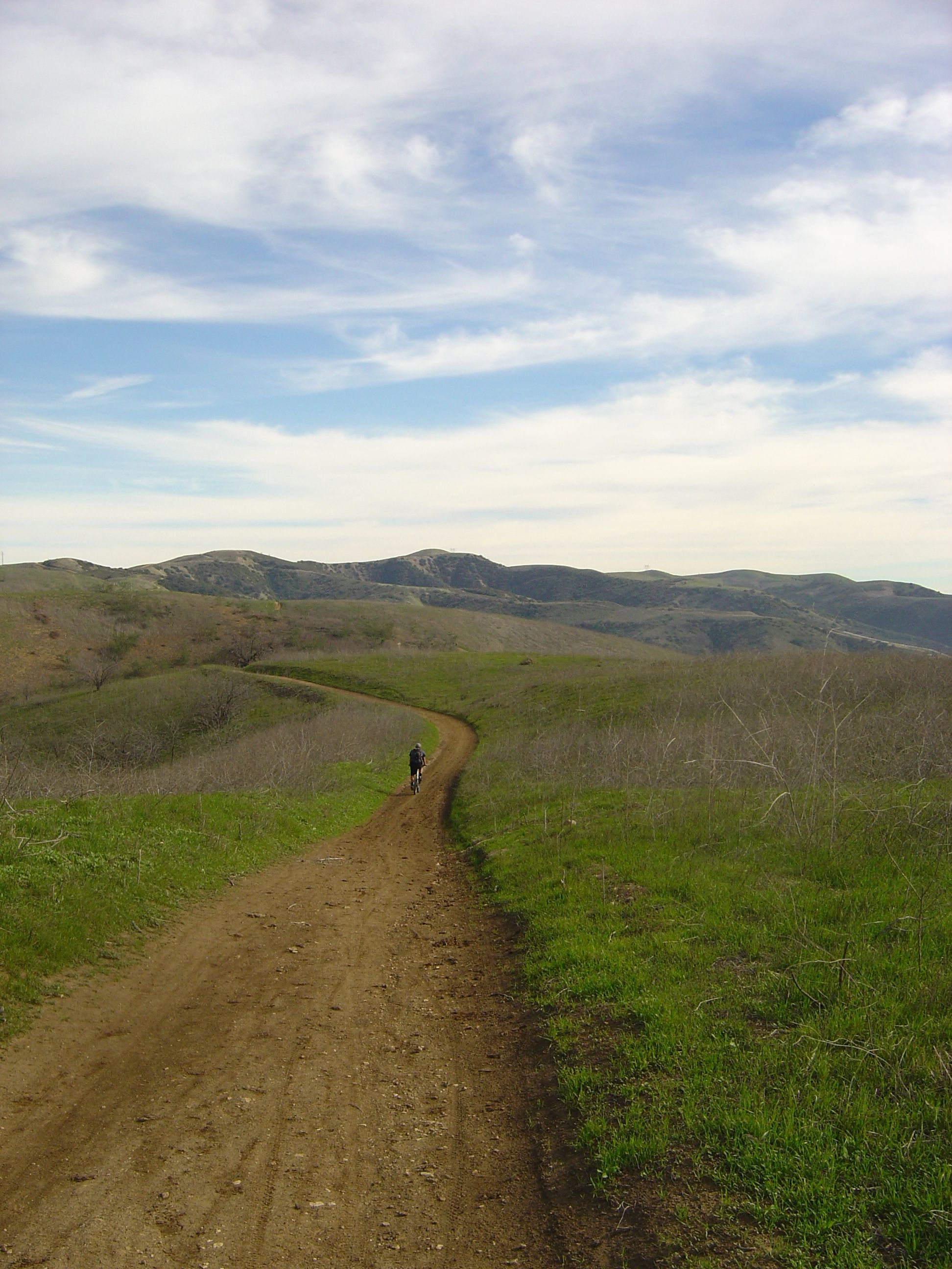 Biking down the path...I think this was Marshall Canyon