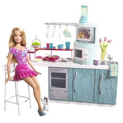 Barbie Kitchen Doll Kitchen Gift Set By Mattel 50 00 All