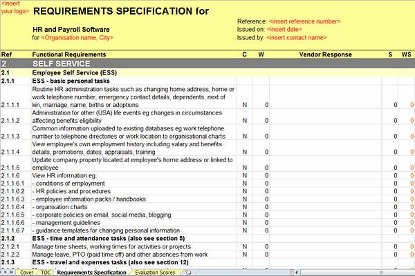 software requirements document template the best human