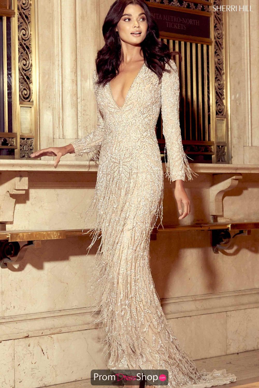 Sherri Hill Long Fringe Dress 16 in 16  Fransen brautkleid
