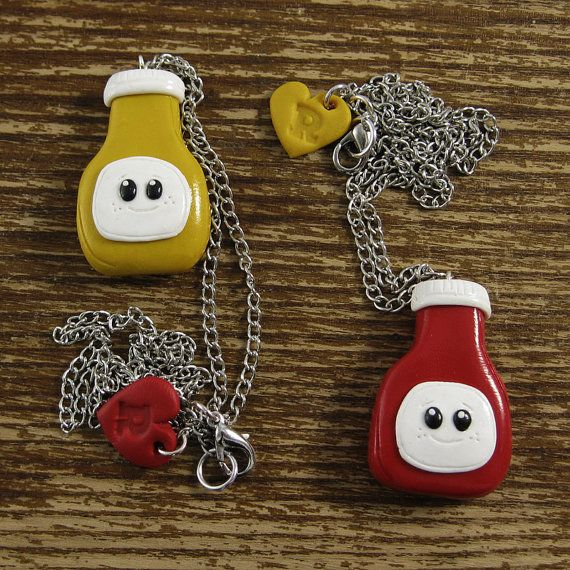 Best Friends Necklace Set  Ketchup and by rapscalliondesign <3