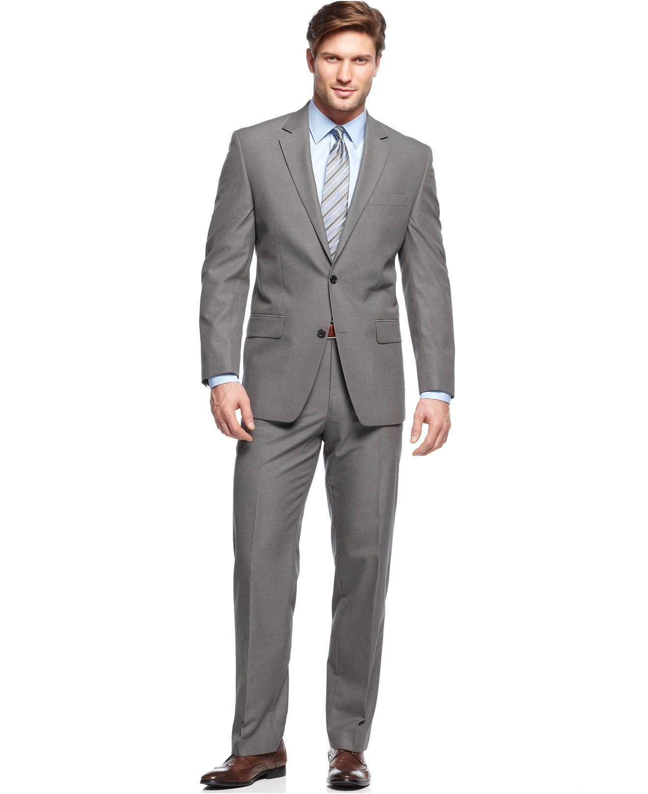 7326cf52b13 MICHAEL Michael Kors Grey Mini-Stripe Suit Separates - Suits   Suit  Separates - Men - Macy s