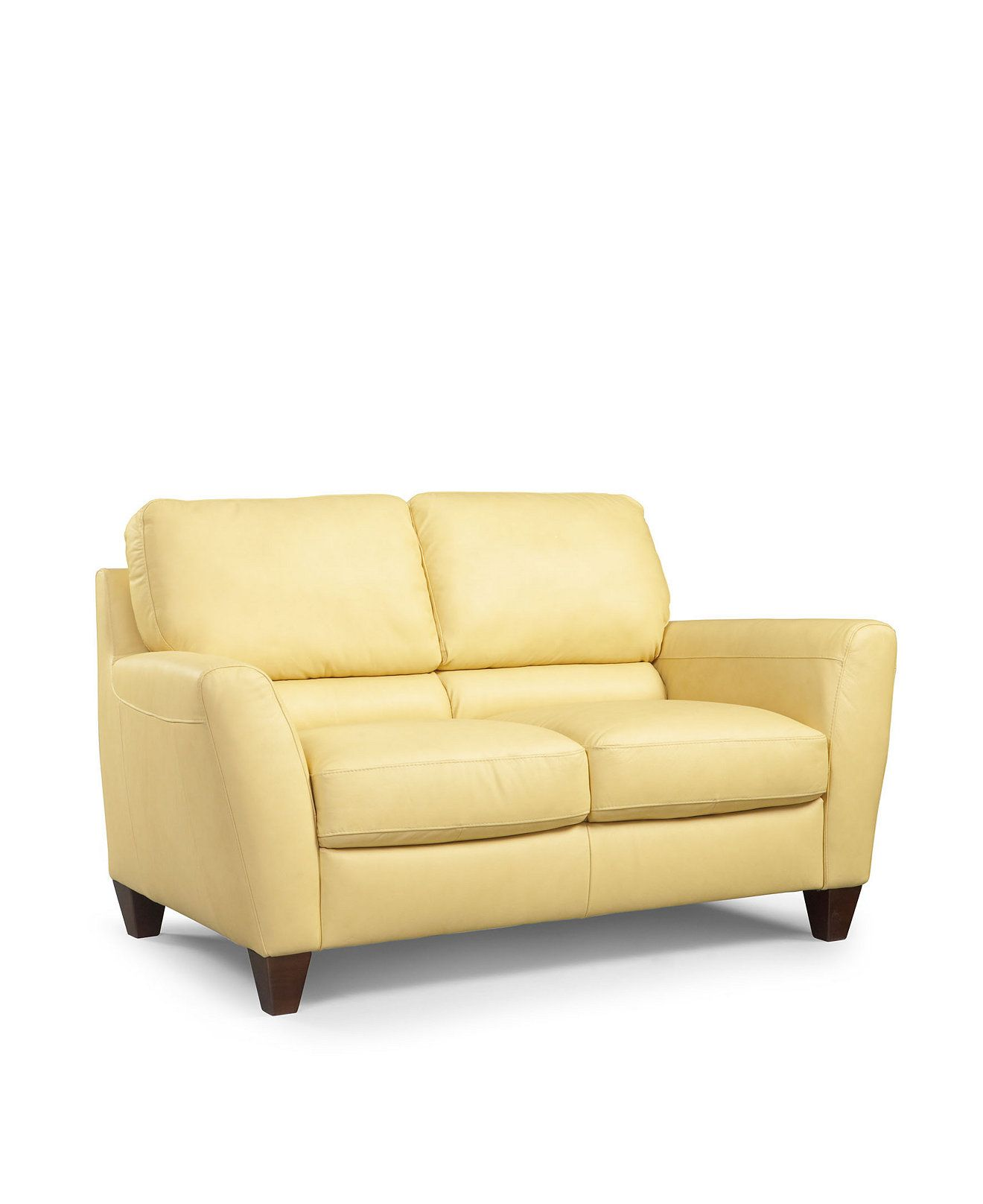 Almafi Leather Loveseat Couches Sofas Furniture Macy S