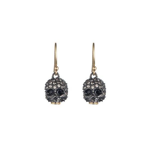 Alexis Bittar: Crystal Skull Drop Earrings