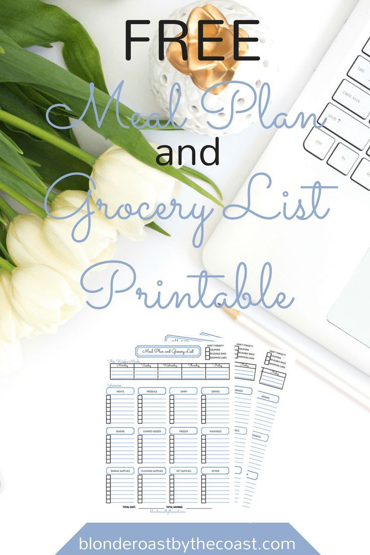 Meal Planning and Grocery list so that your trips to the store can be organized and productive!! Even has a reminder for coupons!!