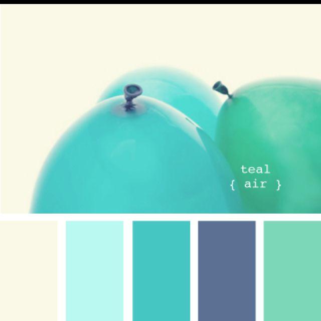 Farbpalette Blau, Farben Und Tapeten