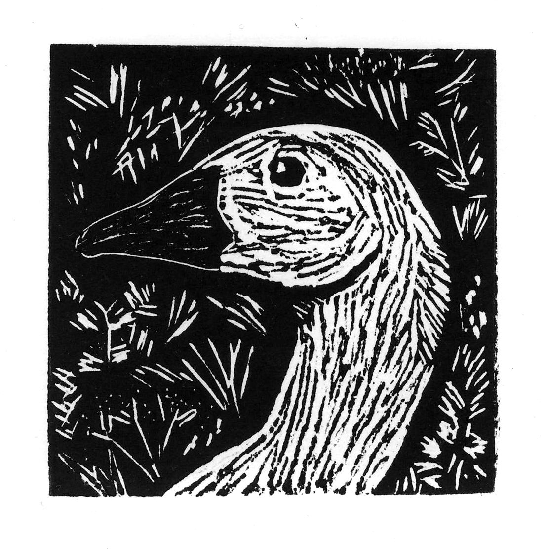 how to draw a design for linoblock print