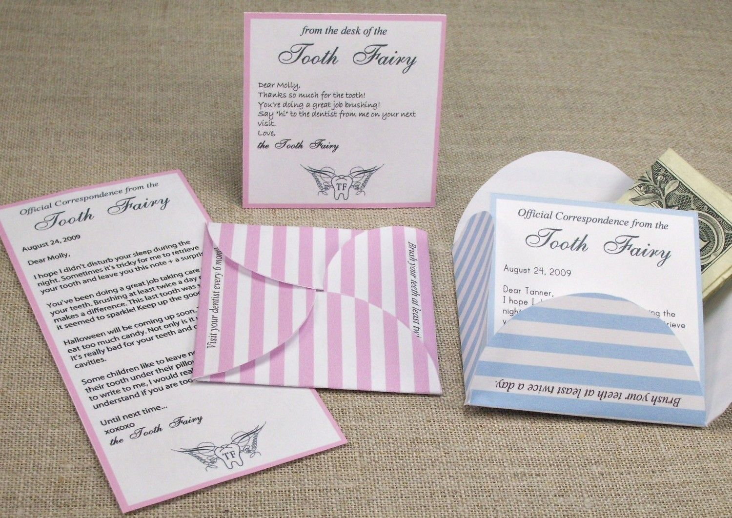 tooth fairy letter kit printable and editable pdf template you enter your text right