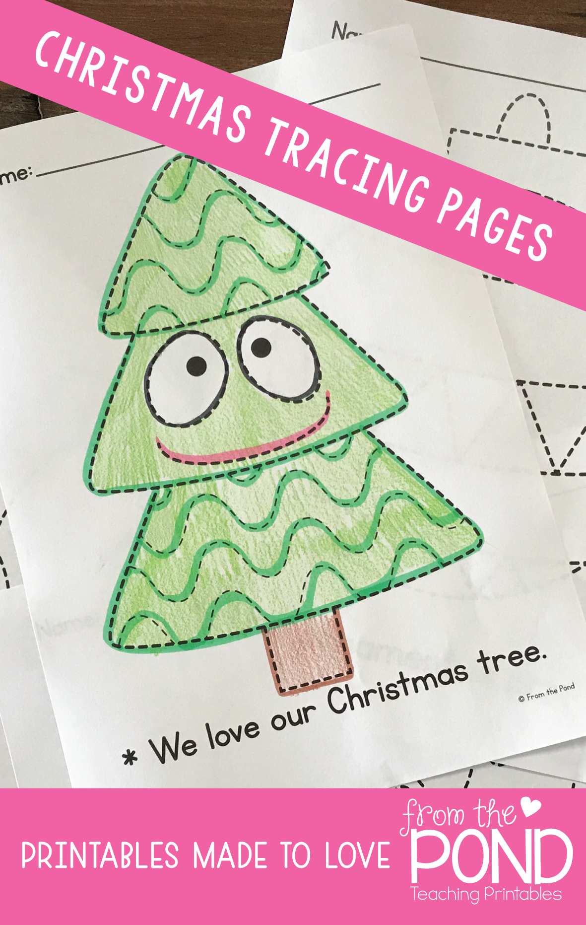 Christmas Tracing Pages Fine Motor Prewriting With
