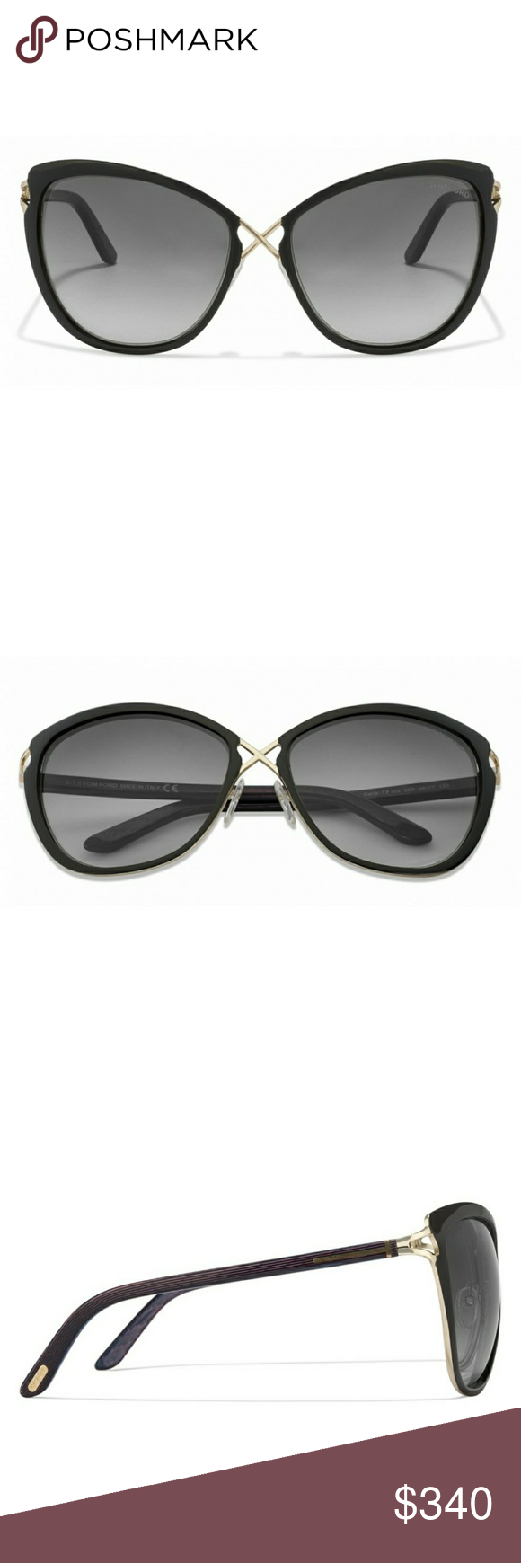 Authentic Tom Ford Women s sunglasses with case Black Golden Pink Blue  Gradient 32B Women s Sunglasses. cb0a13379714