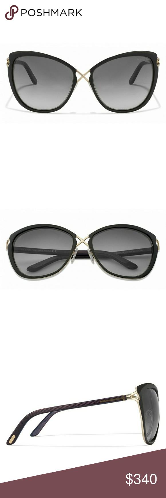 7131fc243e6594 Authentic Tom Ford Women s sunglasses with case Black Golden Pink Blue  Gradient 32B Women s Sunglasses.