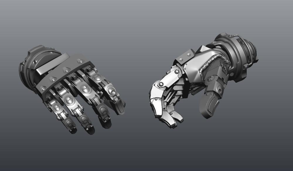Fi Robot Hand 3d Cgtrader Robot Hand Robots Drawing 3d Model