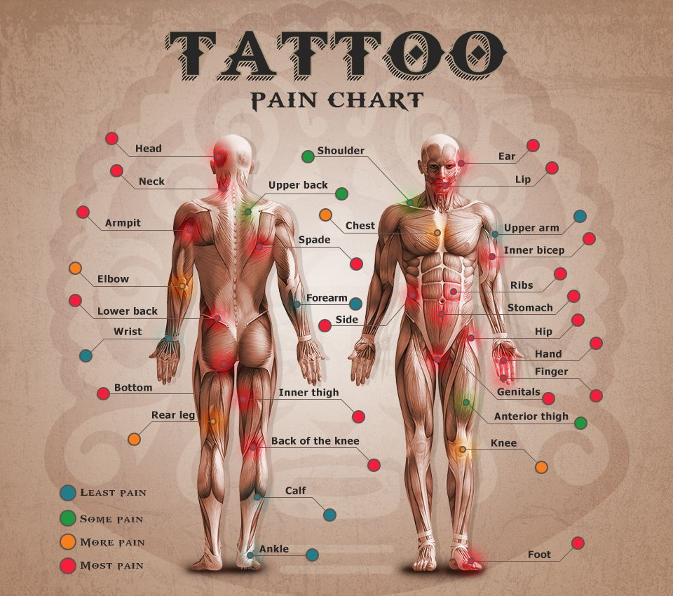 0ef0f332d3 Tattoo Pain Chart except the ankle does hurt it is not a little pain it is