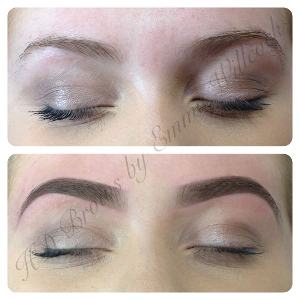 Gorgeous full, natural blonde HD Brows before & after by ...
