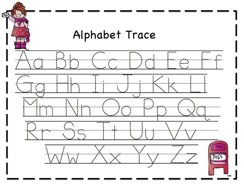 16 Alphabet Letter Tracing Worksheets Free in 2020 Free