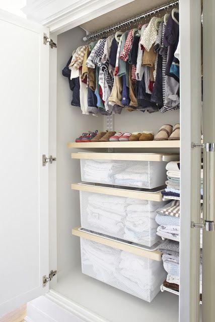 Baby closet in a wardrobe