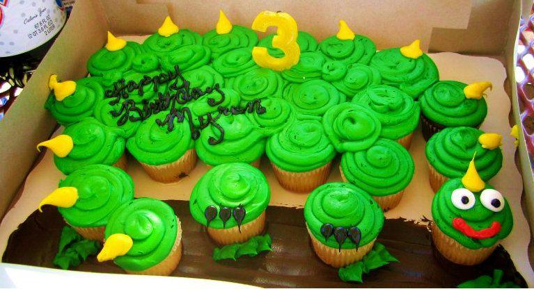 Dinosaur Cupcake Cake Boy Birthday Party Boy Birthday Parties