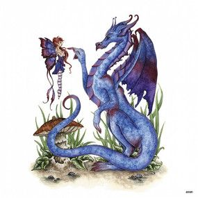Attitude Blue Dragon and Fairy Magnet