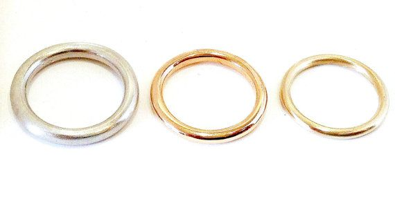 Gold Wedding Band 14kt. Comfort Fit by HEARTWEARDESIGNS on Etsy
