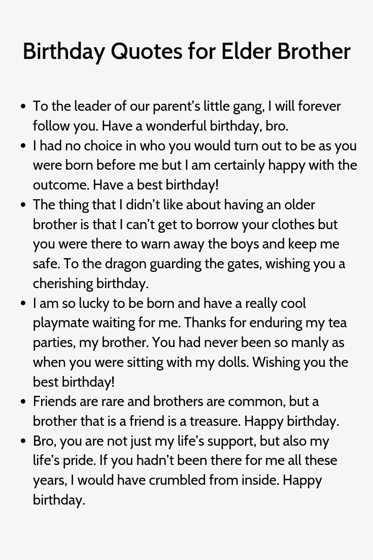 Birthday Quotes For Elder Brother Birthday Captions Birthday