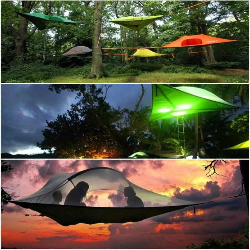 These tree tent hammocks will make your next c&ing trip even more epic. Life is a Hammock & I would so sleep in this and watch FREE movies on giant cinema ...