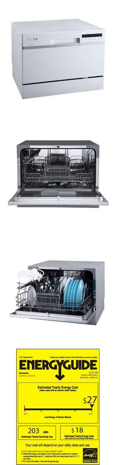Dishwashers 116023 Edgestar Dwp62wh 22 W 6 Place Setting Energy