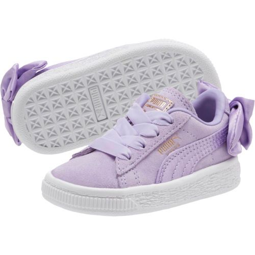 0b64be1c58f3 PUMA-Suede-Bow-Infant-Sneakers-Kids-Low-Boot-Kids-New