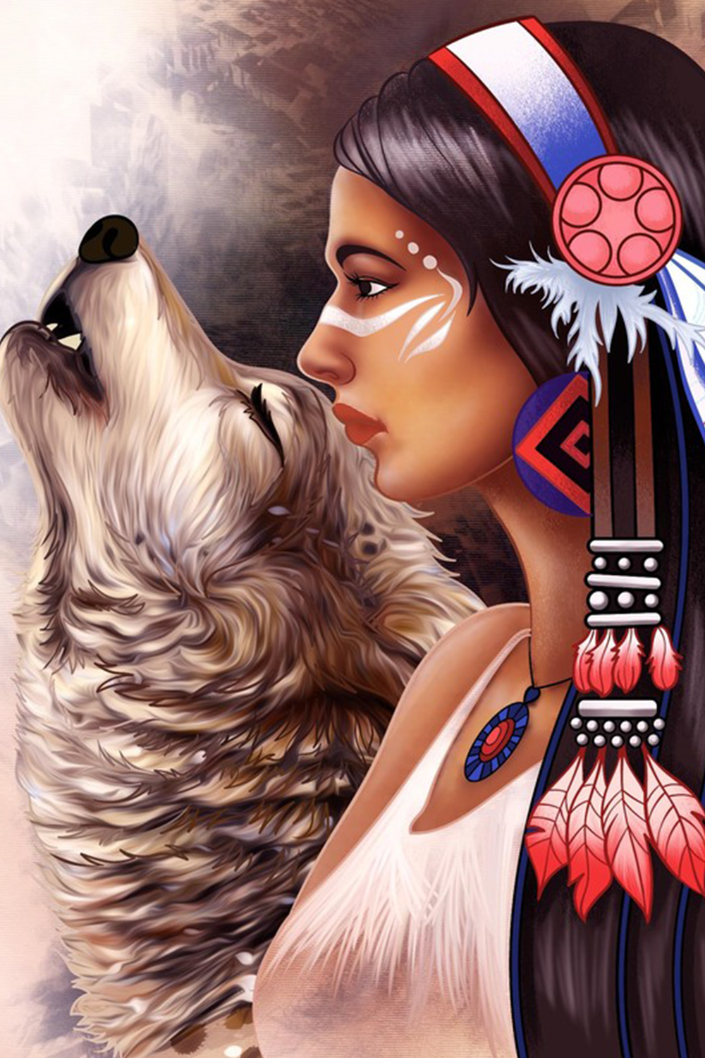Paint By Number Free Coloring Book Puzzle Game Spiritual Artwork Art American Indian Art