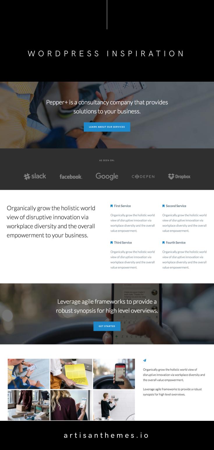 Pepper+ | WordPress Inspiration | Sites + Pages + Landing