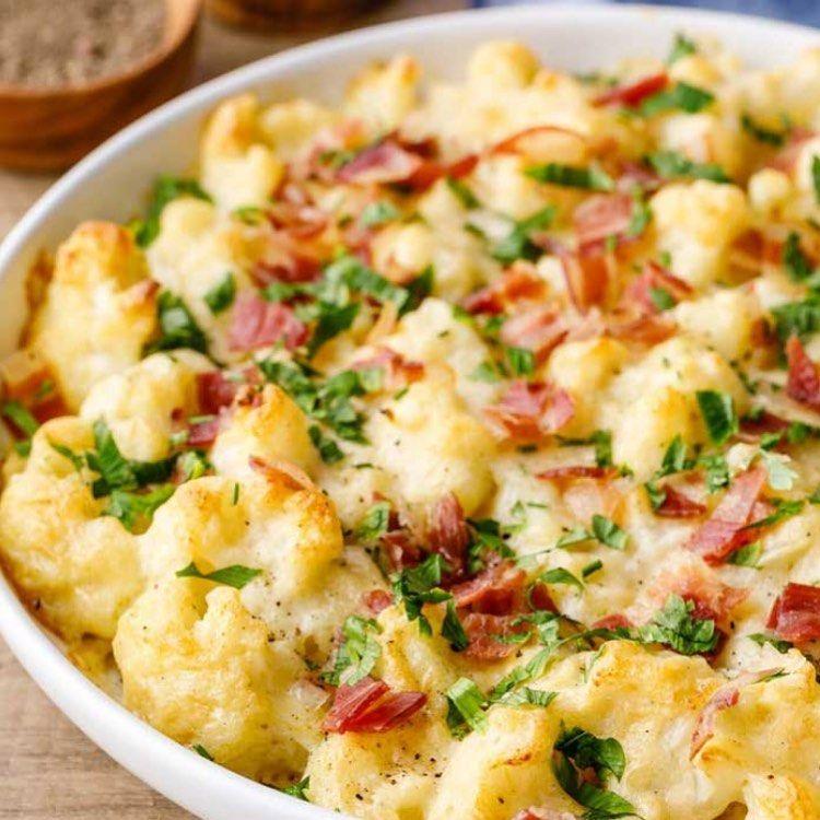 "Paleo Diet Recipes on Instagram: ""Loaded Cauliflower Bake — Recipe link in bio @paleogrubs"" #loadedcauliflowerbake"