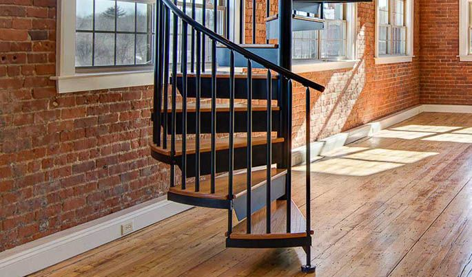 Best The Downtown Extra Spindle Spiral Staircase Stairs 640 x 480