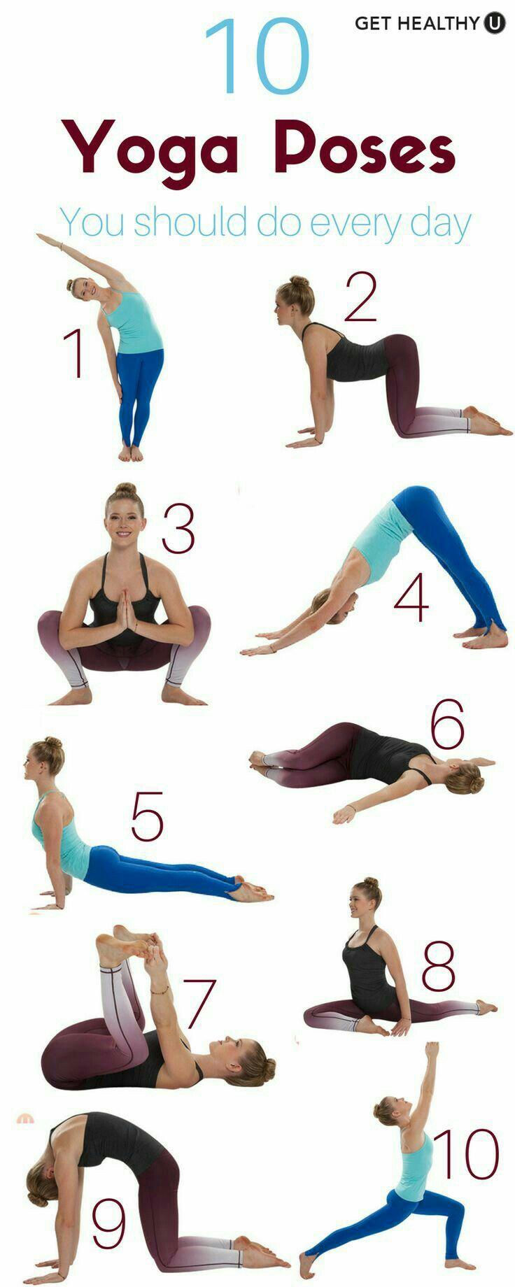 10 yoga poses you should do every day fit pinterest exercices yoga et entra nement. Black Bedroom Furniture Sets. Home Design Ideas