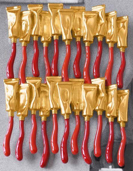 Arman tubes rouges a r t pinterest accumulation for Arman accumulation