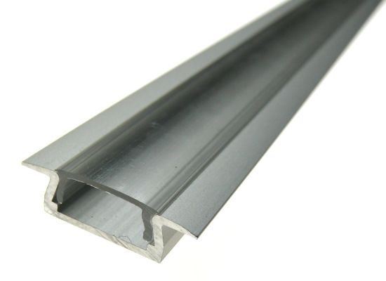 Profilo LED alluminio 50cm satinato 5mm cover opale - A partire da 13,90€